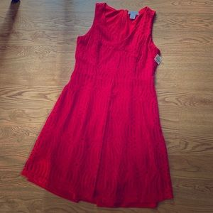 Red mid dress